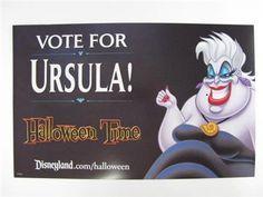 disney theatrical  poster 2016 | Disney Disneyland Villains Promotional Ursula LITTLE MERMAID Halloween ...