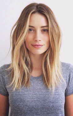 Las medias melenas están muy de moda, pero lo que es lo más de lo más es el peinado tipo midi aunque más largo, sin llegar a ser una melena muuyyy larga. #hair #look #fashion
