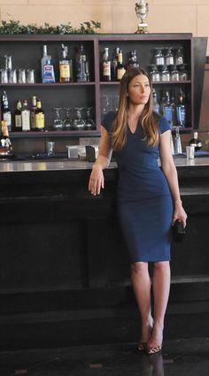 "I love blue navy! wildvoyager: "" Jessica Biel "" …"