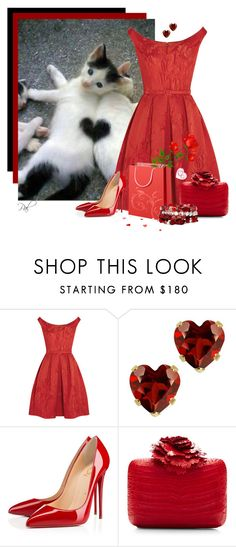 """I heart kittens"" by pamlcs on Polyvore featuring Oscar de la Renta, Christian Louboutin, Nancy Gonzalez and Mixit"