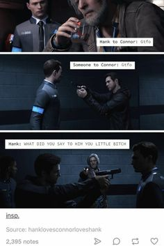 Detroit Become Human, Connor, Hank Detroit Being Human, Detroit Become Human Connor, Detroit Meme, Luther, Quantic Dream, Becoming Human, I Like Dogs, Game Theory, Oui Oui