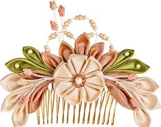 NEW Off-white and Rose gold Sakura Silk Flowers by PetiteLumiereCo