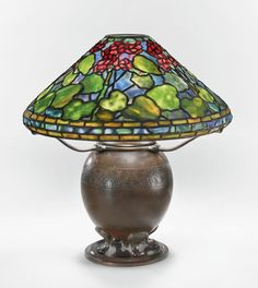 Tiffany Dreaming in Glass - View AUCTION details, bid, buy and collect the various Tiffany Lamps and artworks at Sothebys Art Auction House. Tiffany Stained Glass, Stained Glass Lamps, Tiffany Glass, Leaded Glass, Studio Lamp, Tiffany Art, Room Lamp, Antique Lamps, Glass Table