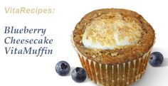 132 Calorie BlueBerry Cheesecake VitaMuffins
