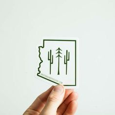 Story It's a classic. The original Cactus to Pines logo on a beautiful die cut sticker in the shape of the great state of Arizona. They are easy to apply and n