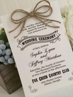 Rustic Country Wedding Invitation Set by CarolinaMintBoutique, $2.25