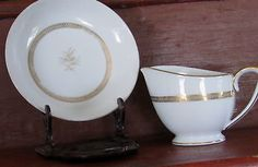Mikasa Salisbury Creamer Bowl Fine China Japan 8282 Dinnerware Gold | eBay