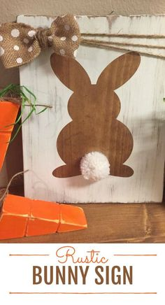 Rustic Bunny Sign