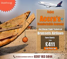 Visiting Accra is one of the best experiences for travelers as the blessed beauty will lure everyone. So, get of and fly to at Call at: 0207 183 5844 Best Airlines, Cheap Airlines, Cheap Flight Tickets, Accra, Blessed, Journey, Good Things, Travel, Beauty