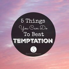 We live in a world where it's hard to eat healthy!Temptation is on every corner! Here are my top 5 tips! 5 Things You Can Do To Beat Temptation!