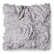 Xhilaration® Jersey Ruffle Decorative Pillow - Gray (Square)