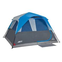 The Magellan Outdoors™ SwiftRise 6 Instant Cabin Tent sleeps up to 6 people and features 4 windows and a door.