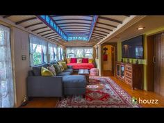 Streetcars carried passengers through the streets of Santa Cruz, California until when they were decommissioned and replaced by buses. So what happened to the streetcars? Mary and Gerhard Ringel know exactly where two are. They currently live inside them. Small Places, House Built, Tiny House Plans, House Made, Tiny Living, Living Room, Beach Cottages, Beautiful Homes, Beach House