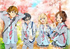 Shigatsu wa kimi no uso, Your Lie in April, Kousei, Kaori, Tsubaki, Watari