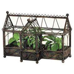 Plant Terrarium Glass and Metal Antique Gothic House Garden Terrarium, Glass Terrarium, Terrarium Containers, Victorian Terrariums, Gothic Garden, Miniature Plants, Miniature Gardens, Fairy Gardens, Modern Victorian
