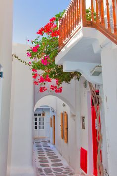 GREECE CHANNEL | Colorful streets in the town of #Mykonos http://www.greece-channel.com/