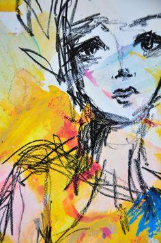 Art journaling by Dina Wakley