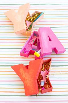 DIY Letter Shaped Boxes - From Scratch!