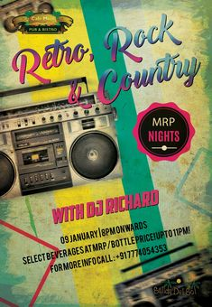 A rock, retro & country music flashback is back this Tuesday at Café Mojo Goa for all those who love those old school foot tapping tunes. Get ready for Retro-iffic Tuesday feat. DJ Richard. #Goa #Party