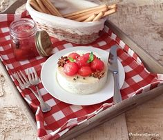 Feta Cheese Mousse with Sweet Cherry Tomatoes Confit