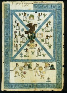 81 Frontispiece of Codex Mendoza. Viceroyalty of New Spain. 1541-1542. Ink and color on paper.