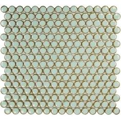 Merola Tile Penny Round Light Green 12 in. x 12-1/4 in. x 5 mm Porcelain Mosaic Floor and Wall Tile (10.2 sq. ft. / case)-FKOMPR13 - The Home Depot