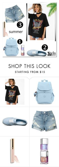 """#shein"" by aria-star ❤ liked on Polyvore featuring Kipling, Vans, 3x1, Beautycounter, StreetStyle, fashionset and shein"