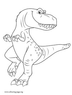 Ramsey is the young T.rex child of Butch. Enjoy this amazing free printable The Good Dinosaur coloring page!