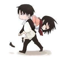 Shingeki no Kyojin | Levi x Mikasa