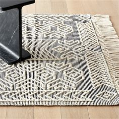 Legend Black and White Pattern Rug |