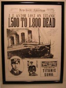 Titanic exhibits go on view