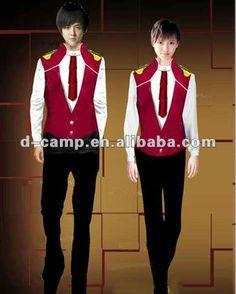 Fashion hotel doorman uniform bar restaurant service staff work uniform clothes