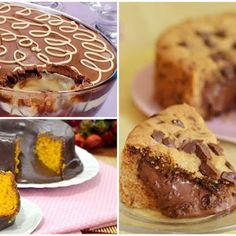5 receitas de brigadeiro gourmet para vender ou presentear - Amando Cozinhar: Receitas Fáceis e rápidas Food Cakes, Fat Foods, Macarons, Quiche, Cake Recipes, Biscuits, Food And Drink, Low Carb, Ganache