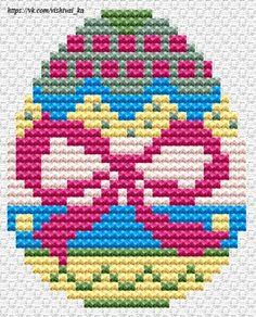 Cross Stitching, Cross Stitch Embroidery, Cross Stitch Patterns, Cross Stitch Geometric, Easter Egg Pattern, Peler Beads, Easter Cross, Cross Stitch Pictures, Cross Stitch Heart