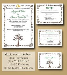 Lord of the Rings Wedding Invitations: Part One   BreeCraft