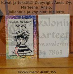Marleena Ansio Hippu postcard: I´m missing you! / Marleena Ansion Hippukortti: Minulla on sinua ikävä!
