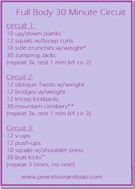 30 minute circuit workout.