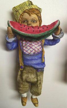 Человечки ручной работы. Елочные куклята. Виктория. Интернет-магазин Ярмарка…
