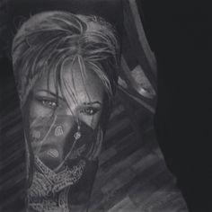 #tattoo #ink #tattoos #halfsleeve #progress #black #white #girl #gangster #mygirl #loveofmylife ...