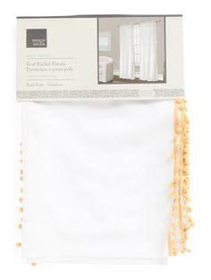 40x84 Pom Pom Trim Curtains - Curtains - T.J.Maxx