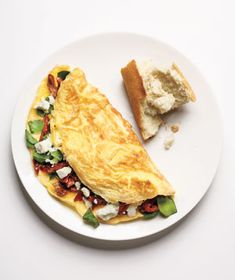 Spinach, Feta, and Sun-Dried Tomato Omelet Recipe - Real Simple