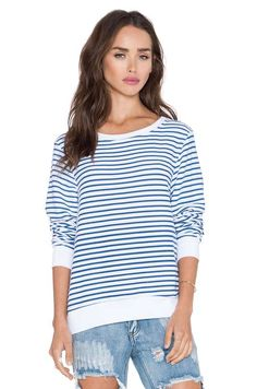 Vintage Varsity Long Sleeve $92 #StripedShirtAndJeanShorts #ProseccoAndPlaid