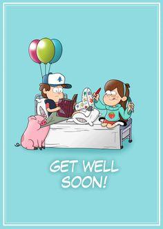 Gravity falls Get well soon by markmak Dipper Pines, Dipper And Mabel, Mabel Pines, Hinata Hyuga, Naruto Uzumaki, Disney Xd, Disney Pixar, Pinecest, Gravity Falls Art