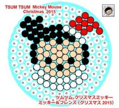 アイロンビーズ Tsum Tsum クリスマスミッキー2015