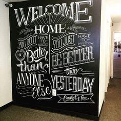 Beautiful chalk type