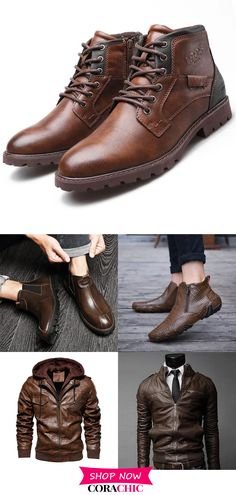 Men's Casual Jackets &Shoes On Sale.Good Quality√Comfortable√Plus Size√Optional Colors√ Get Yours! Shoe Recipe, Mens Boots Fashion, Sharp Dressed Man, Men Dress, Nike Men, Men's Shoes, Men Casual, Free Shipping, Winter Shoes For Men