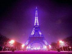 Eiffel Tower Turned Purple #PRINCERIP