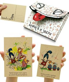 Syed: This postcard explores the art of illustration to its core. Good choice of material and colour makes this design a pretty face. The packaging is also nice and cohesive.