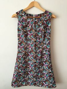 1960s Style Floral Mod Mini Dress by stylesixties on Etsy #1960s #vintage