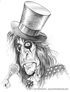 Welcome to my Nightmare! This week's sketch subject is legendary hard rock showman Alice Cooper. As always the original is available in The Studio Store.